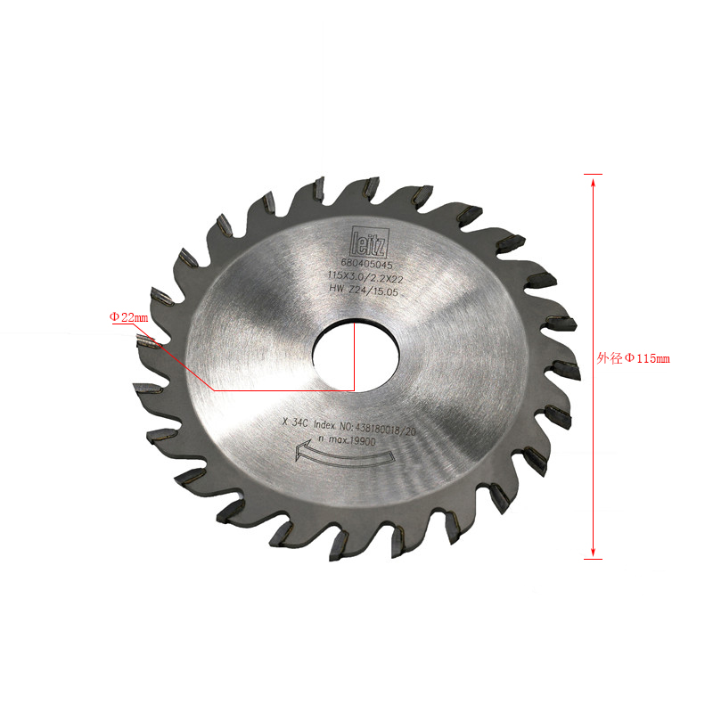 70105072 硬质合金圆锯片 φ115×3.0×φ22×24Z
